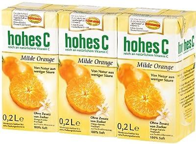 Hohes C Milde Orange, 5er Pack (5 x 3 x 200 ml Packung)