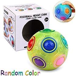 Magic Ball Fidget Rainbow Ball 3D Puzzle Cube Speed Luminoso Bola del Arco Iris Educación Juguetes Anti Estrés para Niños Adultos Adolescentes (Color al azar)
