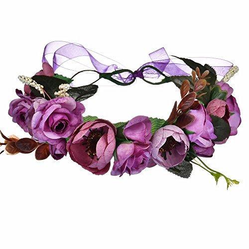 AdorabFitting Girlande garland girlande guder kranz gudelj grunwald Blumenlilien-Blumenstrand rot