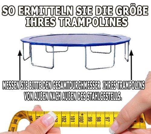 Premium Federabdeckung 305 cm für Trampolin Randabdeckung PVC – UV beständig - 7