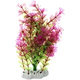 SODIAL(R) Planta de agua artificial verde purpura para acuario tanque de pez Ornamento de decoracion