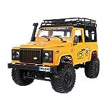 1:12 Escala RC Car Vehiculo Todoterreno 2.4GHz con Luz Frontal LED y 2 Techo Desmontable de Carcasa del Cuerpo