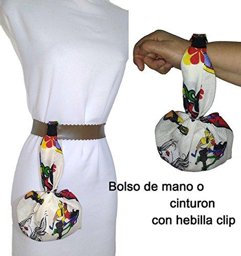 Einzigartige Geldbörsen (Tasche Damen und Herren, Handtasche, oder hängen am Gürtel. HIPPIE. Für die mobile, Schlüssel, Geldbörse, Taschentücher, etc. ideal zum Wandern, Tanzen. Einzigartig und)
