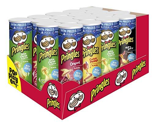 Pringles 18er Party Mix mit 4 verschiedenen Sorten (Sour Cream Chips Onion)