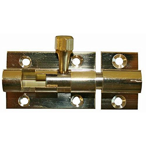 W4 Tür Schloss-Verriegelung Slide Barrel Bolt Schließe Brass (Einheitsgröße) (Brass)