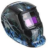 GOCHANGE Solar Automatisch verdunkelnd Schweißhelm, Energiesparen Schweißschirm Schweißschild ARC TIG MIG Welding Helmet [Energieklasse A+++]