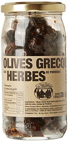 Le Vieux Bistrot Olives Noires Grecques Herbes de Provence - Lot de 3