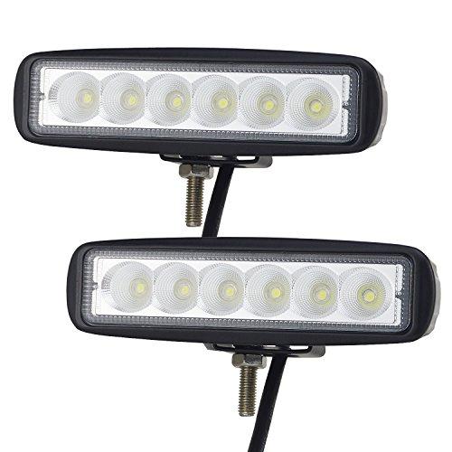 Aluminium-appliance Lkw (AUXTINGS 2 x LED-Arbeitsleuchte, 15,2cm, 18W, Nebelscheinwerfer, Flutlicht und Strahler, für Geländewagen, LKW, SUV, Allradantrieb)