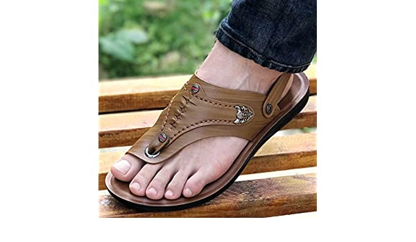 xing lin homme Sandales Tongs pour homme Youth Cuir Leisure doux Fond  confortable antidérapant Wild double a070929e0579