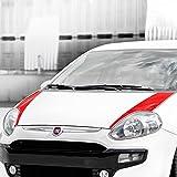 Foliensatz für Motorhaube Zubehör Tuning 1032 (rot)