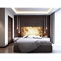 Cabecero Cama Cartón Ecológico Otoñal | Varias Medidas 115x60cm | Fácil colocación | Decoración Habitación |