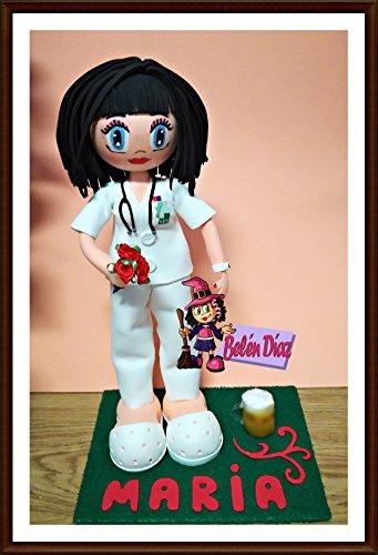 Fofucha muñeca artesana Enfermera o Doctora