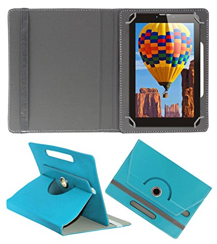 Acm Rotating 360° Leather Flip Case For Tescom Bolt 3g Tablet Stand Cover Holder Greenish Blue  available at amazon for Rs.149