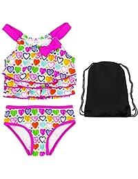 e272575a0e Kiko   Max Baby Girls Heart Tankini 2 Piece Swimsuit 24 Month Swimwear with  Bag