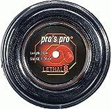 PROS PRO Lethal 8 Tennissaite - 200m Rolle - 1.24mm - Schwarz