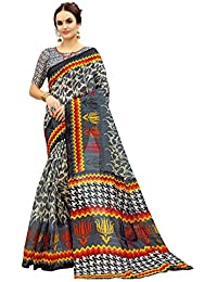 [Sponsored]Glory Sarees Women's Bhagalpuri Art Silk Saree(gloryart10_grey)