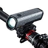 StVZO zugelassene LED Fahrradbeleuchtung/Set bestehend aus Front- und Rücklicht für alle Räder. Sehr hell (60 Lux). Spritzwasserdicht (IPX5). Samsung Akku bis 8 Std. Wiederaufladbar per USB.