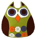 Corinne Lapierre cojín de búho de fieltro Kit de decoración de patrones de costura para, verde pradera