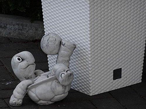 Steinfigur Nr.556 Fußball Schildkröte 11 Fussballspieler ca. 8 kg - 5