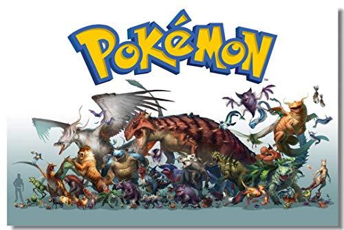 Wand Wand Bild Pokemon Gehen Spiel Poster Tasche Monster Wallpaper Cartoon Aufkleber Kinder Wohnzimmer Dekor (B)250*(H)175cm pro