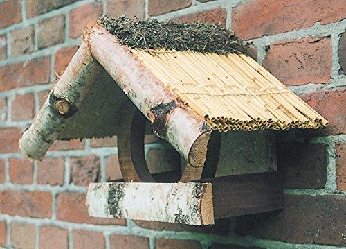 """Vogelfutterhaus mit Reetdach, """"Ferienhaus klein"""", Wandbefestigung"""