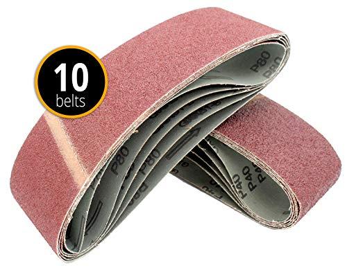 10x-Bandas lija 75x 533mm papeles
