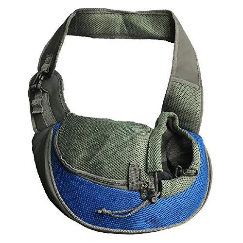 Haustier-Oxford-einzelne Schulter-Beutel- Haustier-Schleuder-Tragetasche-Hand-Freie Hundekatze im Freien Spielraum-Umhängetasche - Gut für die Gesundheit Ihres Haustieres,Blue,S (Wesentliche Tragetasche Beutel)