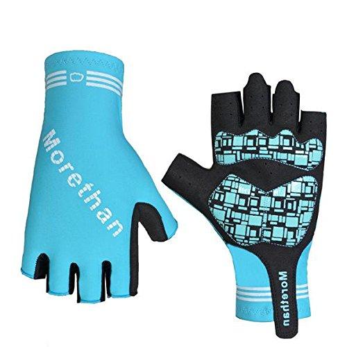 DHH Kurzer Handschuh Mountainbike Halbfinger Reithandschuhe Silikon Schock, Blue, XXL