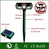 Outdoor Waterproof Solar Electronic Pest Animal Ultrasonic Repeller, Animal Control, Pest Control, Rodent