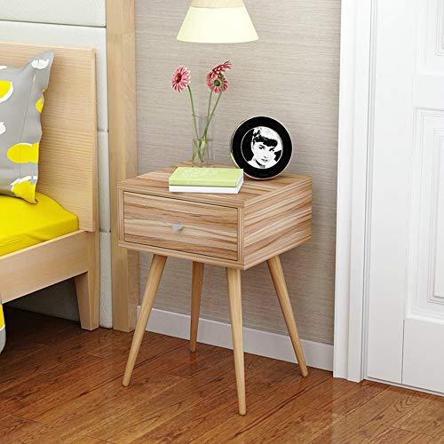 Tische MEIDUO Nachttisch 2-Tier-Cubic Night Stand Storage Nachttisch mit Schublade Real Natural Paulownia Holz Computertisch (Farbe : Eiche, größe : 1 darwer) - Eiche Konferenztisch