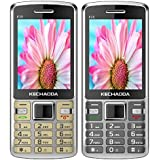 KECHAODA K35 (Combo Of Two MOBILES) Basic Feature Mobile Phone With Dual SIM, 2.4 Inch Display (Gold+Grey)