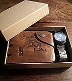 MENS LUXURY BOX SET GENUINE LEATHER BI FOLD WALLET AND STYLISH WRIST WATCH BY VALEN BOX SET