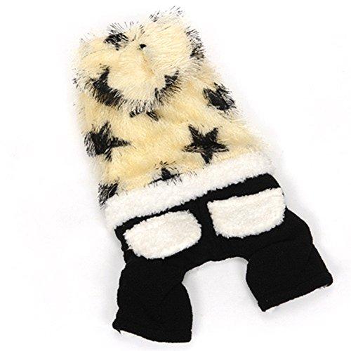 Dog Wonder Kostüm (unihubys Fashion Schwarz und Weiß Kiefer Nadeln Pet Kleidung für Hund Winter Mäntel Hoodies)