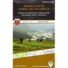 Outdoorkartan Schweden 02 Nikkaluokta - Sarek - Saltaluotka 1 : 75 000: amtliche Karte