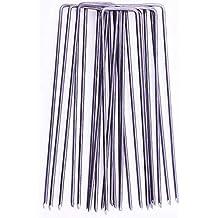 GardenPrime Grapas Metálicas alambre de acero 150mm 2.8mm para sujetar tela antihierbas, mallas,
