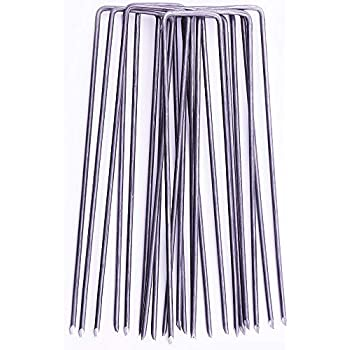 """100x Very strong plastic garden pegs 6/""""-15cm for weed control,Fleece and pond/'s"""