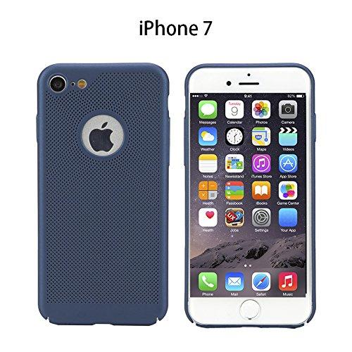 Meimeiwu Alta Qualità Ultra Sottile Leggera [Morbido tocco] Antiscivolo Duro PC Shell Slim Custodia Per iPhone 7 - Blu Blu