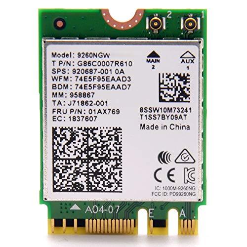 Intel Wireless-Ac 9260, 2230, 2X2 Ac+Bt, Gigabit, ohne Vpro
