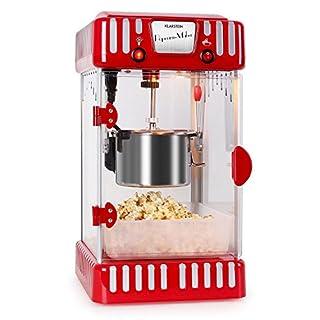Klarstein Volcano Popcornmaschine • Popcorn-Maker • Popcorn-Bereiter • Retro-Design • 300 Watt • Edelstahl-Topf • Innenbeleuchtung • ca. 60 l/h • rot