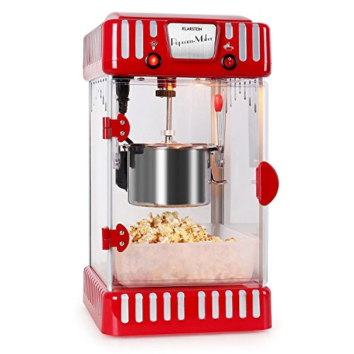 Klarstein Volcano Popcornmaschine Retro-Design mit Innenbeleuchtung