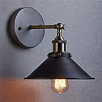 AIHOMETM Vintage Industrial Wall Sconce Edison Lamp Adjustable Retro Loft Wall Sconces Light Metal Black for House Bar Restaurants Coffee Shop Club Loft Large Sizes E27 (110-240V,Bulb not Included) ...