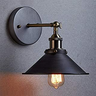 AIHOMETM Vintage Industrial Wall Sconce Edison Lamp Adjustable Retro Loft Wall Sconces Light Metal Black for House Bar Restaurants Coffee Shop Club Loft Large Sizes E27 (110-240V,Bulb not Included) ...