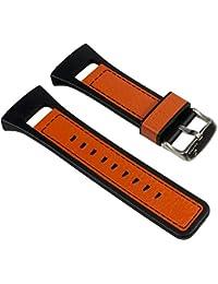 Calypso Ersatzband Uhrenarmband Leder/PV Band schwarz/Orange für K5333/5 K5333