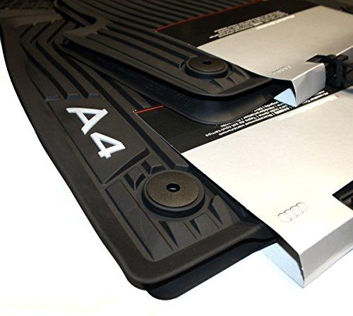 Preisvergleich Produktbild Original Audi A4 B9 8W Fußmatten Gummi Premium Gummimatten Allwetter 4-teilig vorn+hinten 8W1061501041 8W0061511041