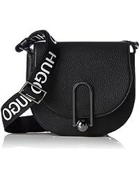 HUGO - Uptown Saddle-l, Shoppers y bolsos de hombro Mujer, Negro (Black), 7x18x21.5 cm (B x H T)