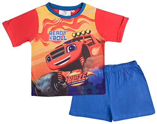 Blaze and the Monster Machines Boys Short Pyjamas Ready to Roll Shortie PJS Size