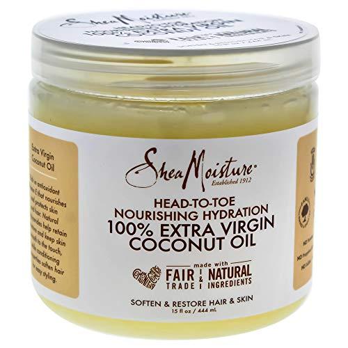 Shea Moisture Head-to-Toe Nourishing Hydration 100% Extra Virgin Coconut Oil 15oz 444ml Körperpflegeöl Körperöl