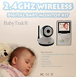 Best View Handheld Wireless 2.4 GHz Color Video Digital Baby Monitor with 2.4 Screen IR Night Vision 2 Way Talking Zoom and 360 Rotation