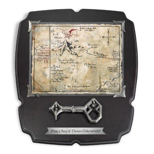 Der Hobbit - Eine Unerwartete Reise - Thorin Eichenschilds Karte mit Schlüssel, Wandbild 38x33cm