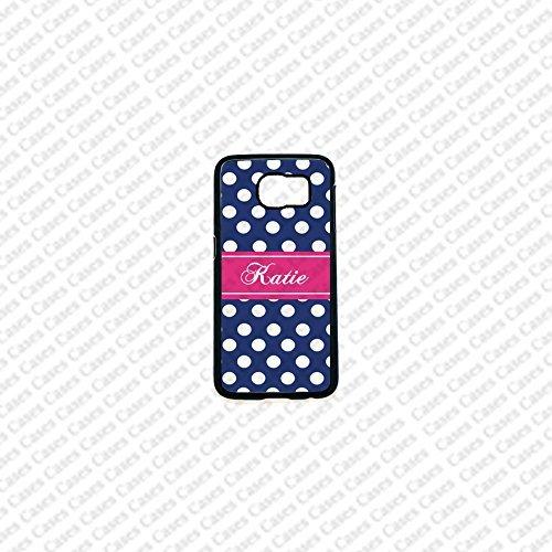 Krezy Case Monogram Samsung Galaxy S6 Edge Case, polka dots monogram Samsung Galaxy S6 Edge 2 Cover, Cute Samsung Galaxy S6 Edge Case, Cute Galaxy Edge2 Case